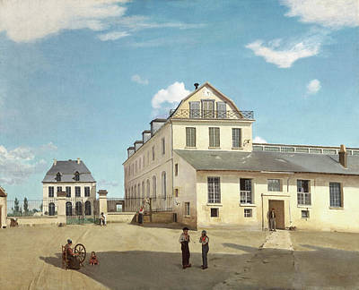 Streetscape Painting - House And Factory Of Monsieur Henry by Camille Corot