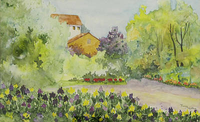 Painting - House And Garden by Jerry Kelley