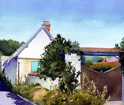 House At Giverny Art Print