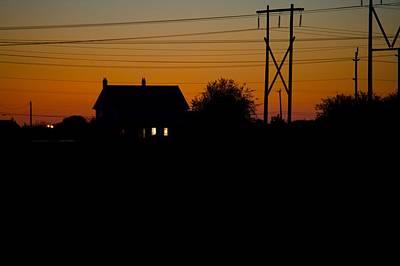 House At Sunset Art Print by Paul Kloschinsky