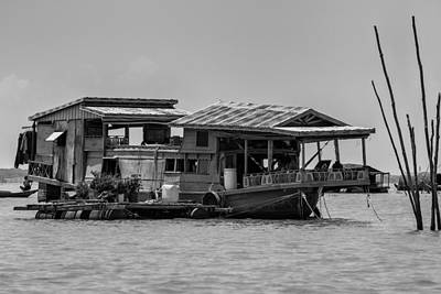 House Boat In Asia Print by Georgia Fowler