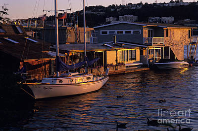 Photograph - House Boats Lake Union by Jim Corwin