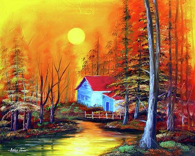 By Singh Painting - House By The River  by Artist Singh