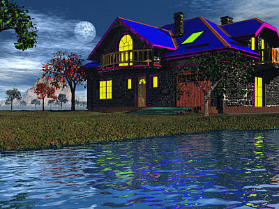 Photograph - House By The River  by Mark Blauhoefer