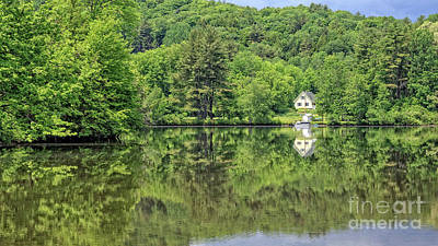 House By The River Vermont Art Print by Edward Fielding