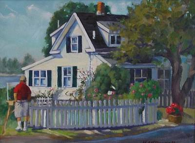 Painting - House By The Sea by Michael McDougall