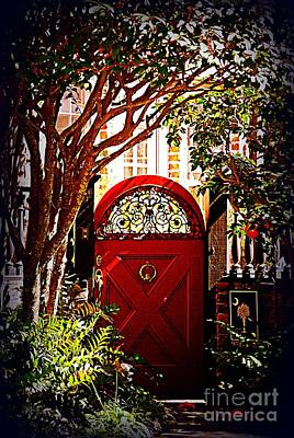 Palmetto Tree Photograph - House Door 5 In Charleston Sc  by Susanne Van Hulst