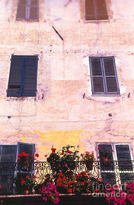 Photograph - House Facade With Flowers by Silvia Ganora