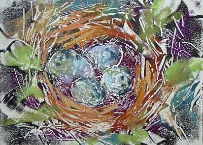 Pastel - House Finch Treasures by Karen Margulis