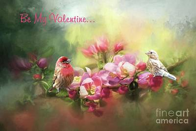 Photograph - House Finch Valentine by Janette Boyd