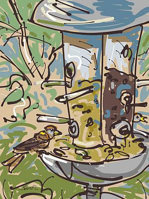 House Finches Art Print by Brett LaGue
