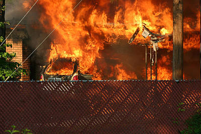 Photograph - House Fire 10 by Joseph C Hinson Photography