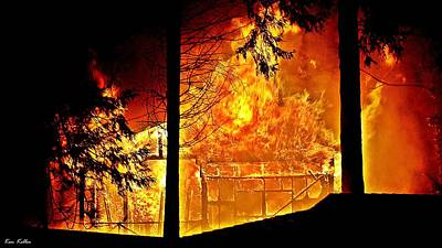 Abstract Graphics - House Fire by Kenneth Keller