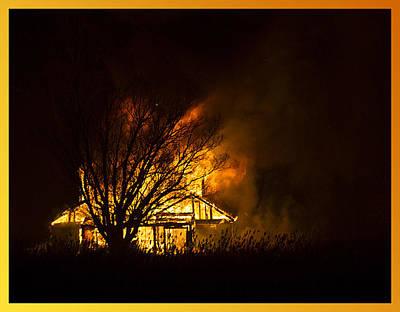 House Fire Art Print