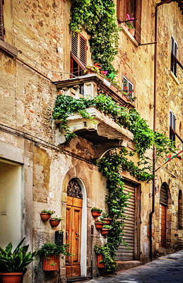 Art Print featuring the photograph House In Arezzoo, Italy by Marion McCristall