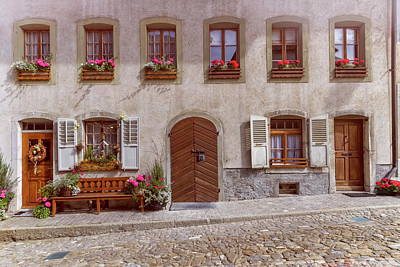 Photograph - House In Gruyere Village, Switzerland by Elenarts - Elena Duvernay photo