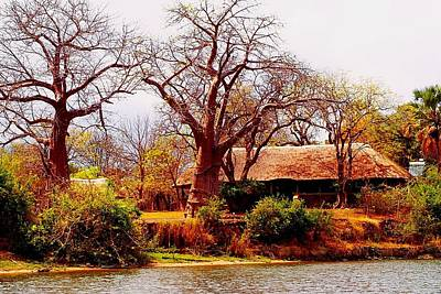 Photograph - House In Malawi At Shire River by Dora Hathazi Mendes
