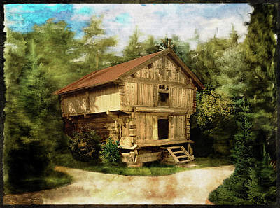 Photograph - House In Norway - Remastered by Carlos Diaz