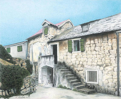 House In Split Croatia Art Print by Wilfrid Barbier