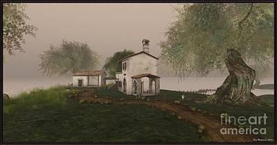 Digital Art - House In The Country by Susanne Baumann