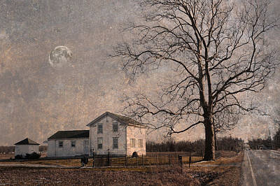 Photograph - House In The Country  by Ann Bridges