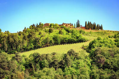 Chianti Hills Photograph - House In The Hillside Of Chianti Italy by Susan Schmitz