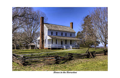 Revolutionary Wars Re-enactment Photograph - House In The Horseshoe by Terry Spencer