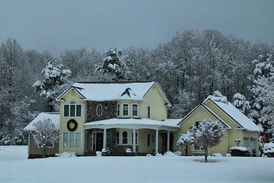 Photograph - House In The Snow 1 by Kathryn Meyer