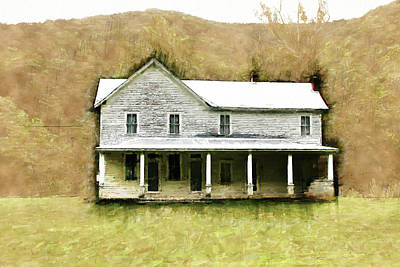 Watercolor Pet Portraits Digital Art - House In The Woods by Kim Curinga