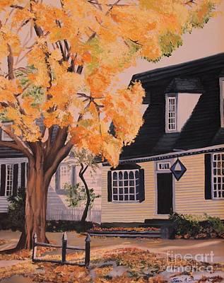 House In Williamsburg  Va Art Print by Terri Thompson