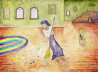 Painting - House Keepers Dance by Jim Taylor