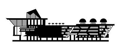 Digital Art - House Logo by Asbjorn Lonvig