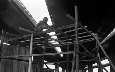 Photograph - Wooden House Construction by Muyiwa OSIFUYE