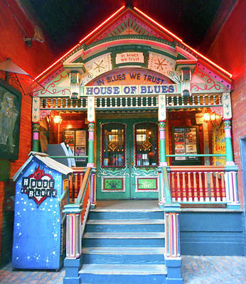 Photograph - House Of Blues 3 by Ron Kandt