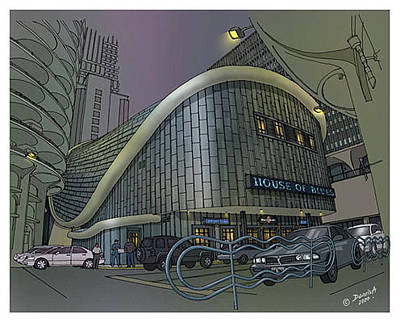 Chicago Skyline Mixed Media - House Of Blues Chicago by Dennis Alex
