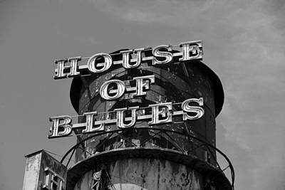 Photograph - House Of Blues In Black And White by David Lee Thompson