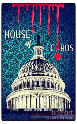 Digital Art - House Of Cards by Binka Kirova