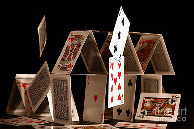 Playing Photograph - House Of Cards by Jan Piller