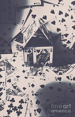 Close-up Photograph - House Of Cards by Jorgo Photography - Wall Art Gallery