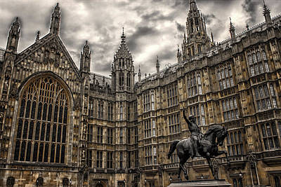 Gothic Bridge Photograph - House Of Commons by Martin Newman