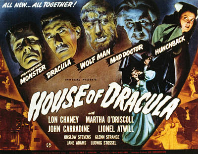 Posth Photograph - House Of Dracula, Glenn Strange, John by Everett