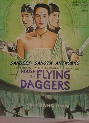 Alfred George Stevens Painting - House Of Flying Daggers by Sandeep Kumar Sahota