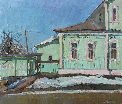 Painting - House Of Kuprin by Juliya Zhukova