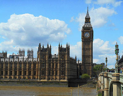 Photograph - House Of Lords Big Ben Tower London by Irina Sztukowski