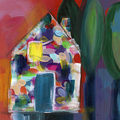 Blue Abstracts Mixed Media - House Of Many Colors- Art By Linda Woods by Linda Woods