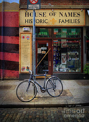 Photograph - House Of Names Bicycle by Craig J Satterlee