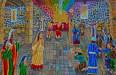 Tabernacle Painting - House Of Obed-edom by Mike De Lorenzo