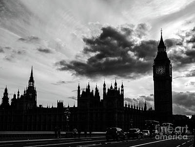 Photograph - House Of Parliament London Bw by Lexa Harpell