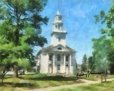 Ohio Painting - House Of Prayer by Anthony Caruso