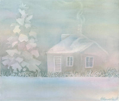 House Of Snow And Fog Art Print by Anne Havard